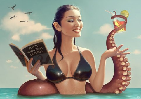 gong_li_and_tentacle_by_papaninja-d3baau4